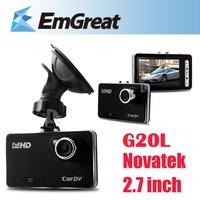 "Novatek G20L 2.7"" LCD Car DVR Camera 1080P 140 Wide Angle dash cam Para Carro G-sensor Motion Detection Loop Recording P0016554"