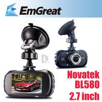 "Novatek  BL580 2.7"" Full HD 1080P Car DVR Camera Recorder With IR Night Vision WDR G-sensor Motion Detection Camera para carro"