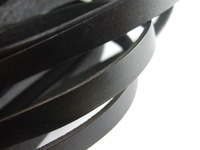 2 Meters Black 10mm Flat Real Leather Cord