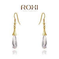 2014 ROXI Korean style fashion women's genuine Austrian crystal earrings jewelry gold plated freeshipping