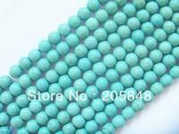 400pcs 6mm Round Shape Man-made Turquoise Stone Loose Beads Free Shipping
