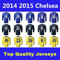 Best Thai Quality 14 15 Chelsea Soccer Jerseys Chelsea Long Sleeve Jerseys LAMPARD OSCAR TORRES HAZARD DIEGO COSTA Jersey