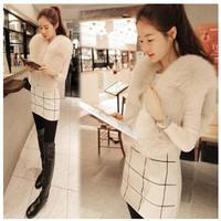 HOT-selling 2014 new Korean fashion all-match Faux fur vest waistcoat grass short paragraph vest jacket for women