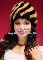 BG80119  2014 New Fashion Genuine Mink Fur Beanie Wholesale Retail Women Fur Hat Winter Cap Sale