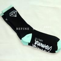 Japanese Harajuku Pyrex vision sport stockings Diamond socksing skateboard