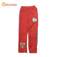 Cartoon Bear Print Girls Sports Pants:4-10 yrs Kids Sweatpants Cotton Girl's School Trousers ,Discount Pants Children Clothes