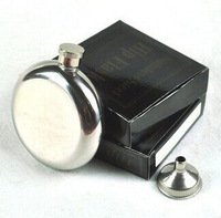portable hip flask 5oz stainless steel flask mirror surface with small metal funnel wholesale free shipping