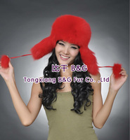 BG80120  Genuine Fox Fur Hat Wholesale Retail Cap Winter Russian Ushanka Sale