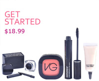 Christmas gift! 2014 simple most popular mascara+face concealer 4pcs makeup set cosmetics set make up kit free shipping
