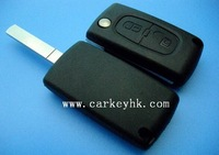 Peugeot key with best quality Peugeot 307 2 button key case no logo CE0523 and peugeot 301