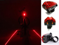 Bike Bicycle 5 Led Red Laser Beam Bicycle Cycle Lights Safety Rear Tail Flash Light Lamp A010113