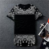DQ-02 New 2014 Harajuku Hip hop t shirt Number Add long Short sleeve Couple Lover women men casual-shirts Tee shirts Loose