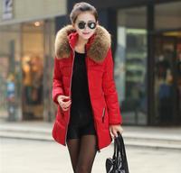 Brand Design Fur Hooded Winter Coat Women Medium Long Duck Down Jacket for Women Thick Jackets and Coats Slim Zipper Parka M-4XL