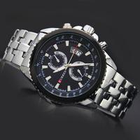 Free Shipping! High Quality Man Men's Boy's Elegant Business Curren Calendar Analog Quartz Wrist Watches, 8082