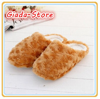 HOT!Autumn And Winter Thick Warm Indoor Slippers Plush Non-slip Floor Slippers Women's Indoor Shoes Soft Bottom 2Color 2 Size