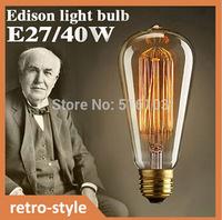 Incandescent bulb ST64 Antique Vintage Edison bulb 110V/220V Edison lamp  free shipping