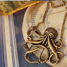 Wholesales  Pirates of the Caribbean Octopus Man Retro Long Necklace Jewelry