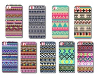10pcs/lot New Aztec Tribal Tribe Pattern Retro Vintage hard back cases covers skin for iphone 6 plus free shipping