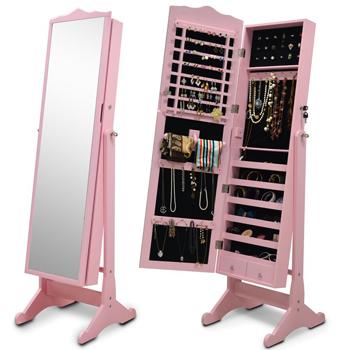 Goodlife couleur rose bijoux en bois armoire armoire de rangement salon meubl - Armoire de salon en bois ...