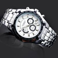 1PC Fashion GentleMen's Watches Man Boy's Business Style Curren Gifts Clock Hours Analog Quartz Wrist Watches, 8084