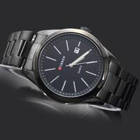2014 Top Sale Fashion Curren Man Watches Men's Boy's Dress Calendar Gifts Stainless Steel Quartz Wrist Watches, 8091