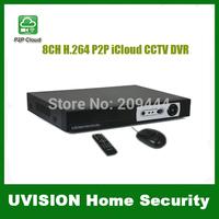 Surveillance 8CH H.264 Network video 8CH audio output 1080P HDMI P2P iCloud CCTV DVR support smart mobile view