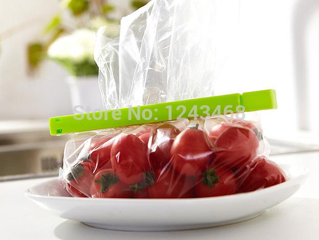 6 pcs Food Storage Plastic Bag Seal Sealing Clip Clamp Sealer Kitchen Cooking Tool(China (Mainland))
