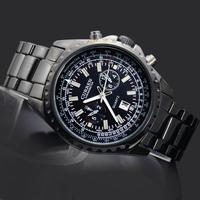 1PC Newest Charming Man Men's Boy's Fashion Elegant Gifts Stainless Steel Curren Calendar Analog Quartz Wrist Hand Watches, 8009