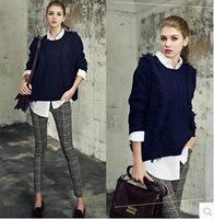 2014 new SET 3 sport sweater autumn winter women's sweat shirt Hooded slim pencil pants white blouse pullover sweater 3pcs/set
