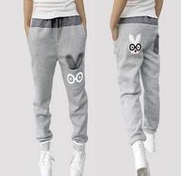 2014 New Winter Fleece Thick Sports Pants Loose Casual Pants Cotton Women's Pants Harem Pants Free Shipping146