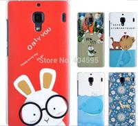 100% High quality anti-scratch shockproof SUPER Thin matte cartoon protective back cover case for xiaomi miui redmi hongmi 1s