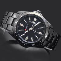 Free Shipping! New Arrival Fashion Style Black Dial Man Men's Boy's Casual Curren Calendar Analog Quartz Wrist Watches, 8110