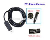2M/5M/7M/10M/15M Cable 6LED Waterproof Endoscope Camera Flexible Tube Inspection Camera 7mm Mini USB Snake Camera Free Shipping