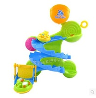 Classic surfing swimming toys water baby bath toys track slippery slide