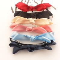 Free Shipping Automatic silk hairpin spring clip bow bow hair clip hair pin hair jewerly barrettes