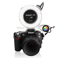 Wholesale 50pcs/lot Aputure HN100 CRI 95+ Amaran Halo LED Ring Flash light  For Nikon Camera DSLRs LED Ring Light