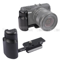 iShoot L-Shaped Vertical Shoot Tripod Ball Head Quick Release Plate Camera Bracket/Grip/Holder case for Canon EOS-M