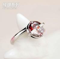 Zircon rings Poke Ball silver rings,Pocket Monster, Pocket Monster silver rings, Japanese designs ring, free shipping