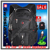 SwissLander,Swiss 17 inch laptop backpack,computer backpacks,17 inches notebook bagpack,17'' business bags with free gifts