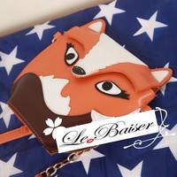 Fox Bags Gentlewomen Shoulder Bag Fashion Trend Small Fox Mini Bag Women's Handbag W2046