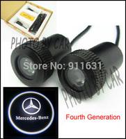 4th Gen 2PCS Welcome Light Projector Lamp Car Logo Door Light  For Mercedes-Benz LED  Bulb Car Logo Shadow Light