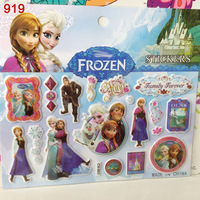 NEW Design Frozen Stickers 3D Princess Elsa Anna Olaf Children Stickers Christmas Gift Birthday Day Party Decoration Stickers