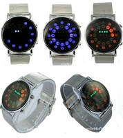 Drop shipping 2014 hot-selling product, brand sports digital watches, Ladies fashion fun hand bowl table mirror--LED watches-