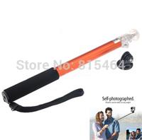 Aluminum selfie stick tripod adapter for GoPro Hero 3+/3/2/1,extendalbe go pro camera accessories portable monopod mount
