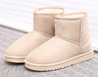 2014 Korean style women snow boots with thick short boots flat heel casual boots xxx268