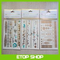 Free Shipping 4pcs/set GOLDFISH KISS flash tattoos metallic tattoos gold foil tattoos body golden tattoo sticker