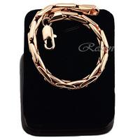 1pcs 6inch Men Woman Unisex 18K Gold Filled Big Bracelet Rose Jewelry 9inch E238