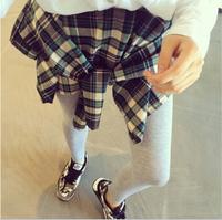 Women Leggings Culottes Fashion plaid shirt style pants leggins punk Spring trousers leggings for girls