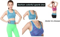 new arrvial women sport bra thin  ice summer season sports bra yoga vest lady striped fashion color bra