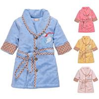 Hot Sale Child Warm Winter Cotton Sleepwear for Baby Girl And Boy Kids Night Gown Robe Home Sleeping Wear Pajamas Nightdress